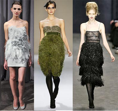 Fall 2008 Fashion Week Trend: Feathers