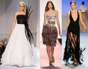 Feathers by Oscar de la Renta, BCBG, and Zac Posen