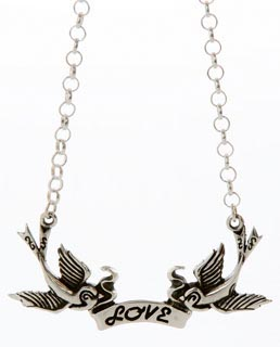 Femme Metale N Love Birds Necklace