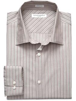 Fitted Graduated Stripe Dress Shirt