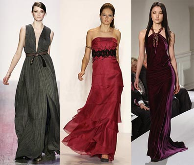 Fall 2008 Fashion Week Trend: Floor Length Dresses