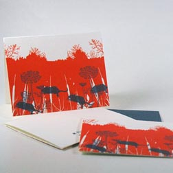 Flora and Fauna Letterpress Cards