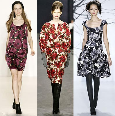 Fall 2008 Fashion Week Trend: Elegant Floral Prints