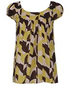 Geometric Print Cap Sleeved Tunic at Forever 21