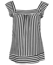 Black and White Striped Tunic at Forever 21
