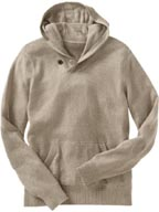 Gap Button Hooded Sweater