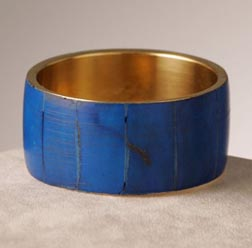 Gara Danielle Single Enamel Bangle in Cobalt Blue