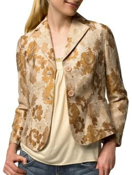 Gold Brocade Blazer