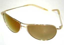 Oliver Peoples Gold Mirrored Commander Sunglasses