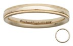 Goldenmine 14k gold milgrain wedding ring