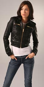 GoldSign Astor Leather Bomber Jacket