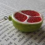 Green Porcelain Pomegranate Necklace