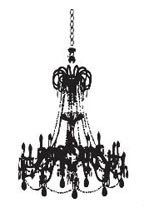 Grunge Chandelier Decal - Vinyl Wall Art