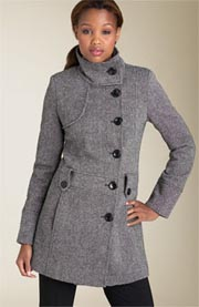 GUESS? Donegal Tweed Walking Coat