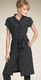 Halogen Mandarin Collar Shirtdress