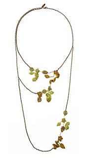 Anthropologie Hanging Garden Necklace