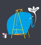 Swinging Elephant T-shirt at Threadless
