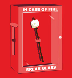 In Case of Fire Tee at Threadless