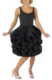 Isaac Mizrahi Taffeta Ruffle Party Dress