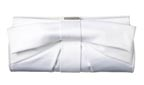Issac Mizrahi Bow Clutch in White