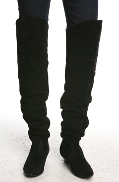 Jeffrey Campbell Suede Over the Knee Boot