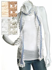 Joshipura Tulle/Crochet Wrap Scarf at Intermix