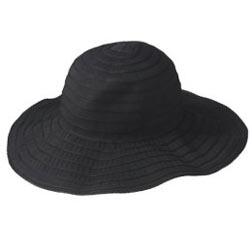 Jovovich-Hawk Floppy Hat in Ebony