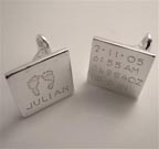 Personalized Baby Cufflinks for Dad