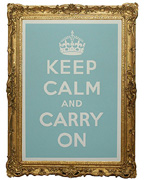 Keep Calm and Carry On Poster Print