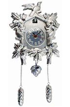 Kikkerland Design Neo Chrome Cuckoo Clock