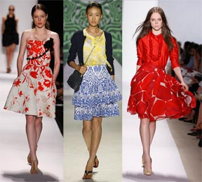 Knee Length Skirts by Carolina Herrera, Milly, Peter Som