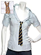 LaROK Cotton Shirt with Tie