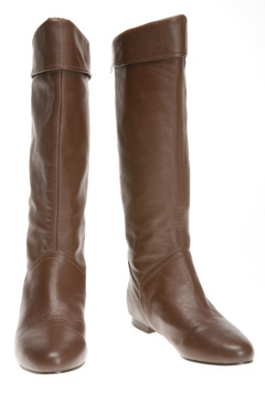 Leather Foldover Boot