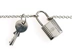 Lena Wald Lock and Key Necklace