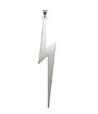 Lightning Bolt Necklace by White Trash Charms