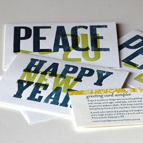 Letterpress cards by Lizard Press