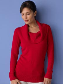 Long Sleeve Cowlneck Sweater