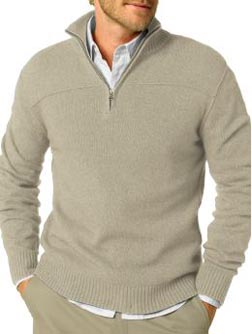 Luxe Spring Blend Half-Zip Sweater