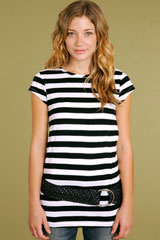Lux Extra Long Striped Tunic