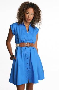 Lux Solid Trapeze Swing Dress