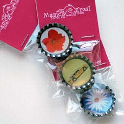 Manic Trout Bottle Cap Magnets