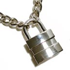 Manly Padlock Choker Necklace
