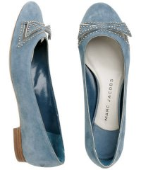 Marc Jacobs Blue Suede Studded Flats