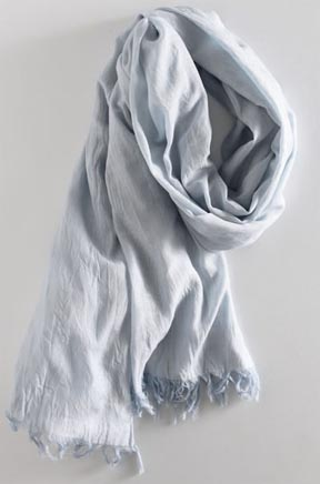 Crinkled Cotton Scarf at Martin & Osa