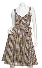 Alexander McQueen Plaid Corset Dress