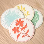 Meadowettes Coaster Set by Sesame Letterpress