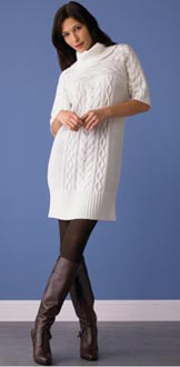 Merino Wool Cable-Knit Dress