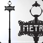 Metro Vinyl Sticker by Paristic