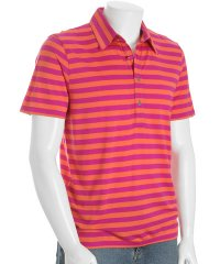Michael by Michael Kors Orange Striped Polo