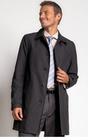 Modern Glen Plaid Straight Trenchcoat